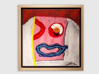 Red Eye 450 X 450mm Incl lijst/ frame